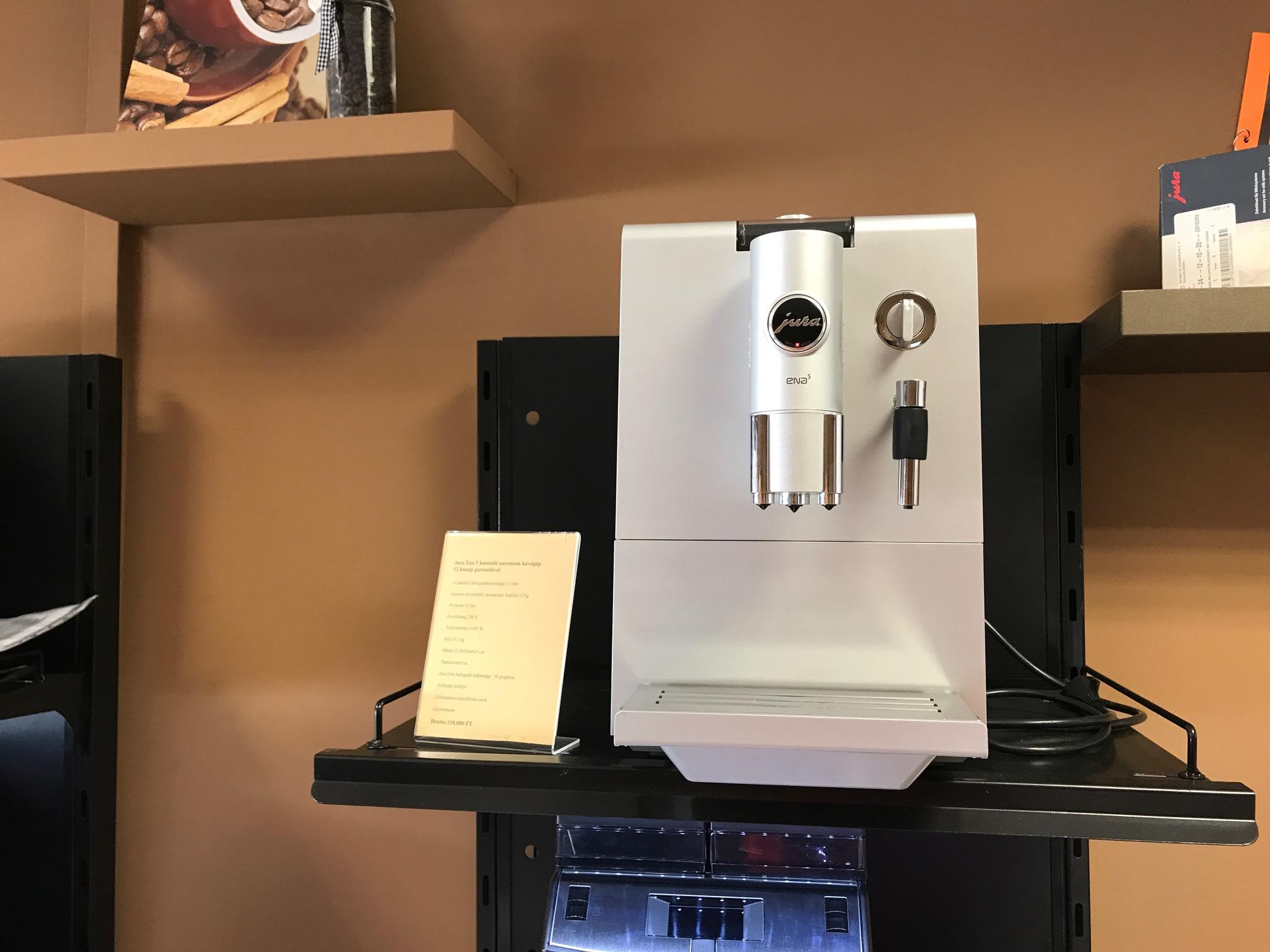 Jura Ena 5 felújított kávégép 12 hónap garanciával