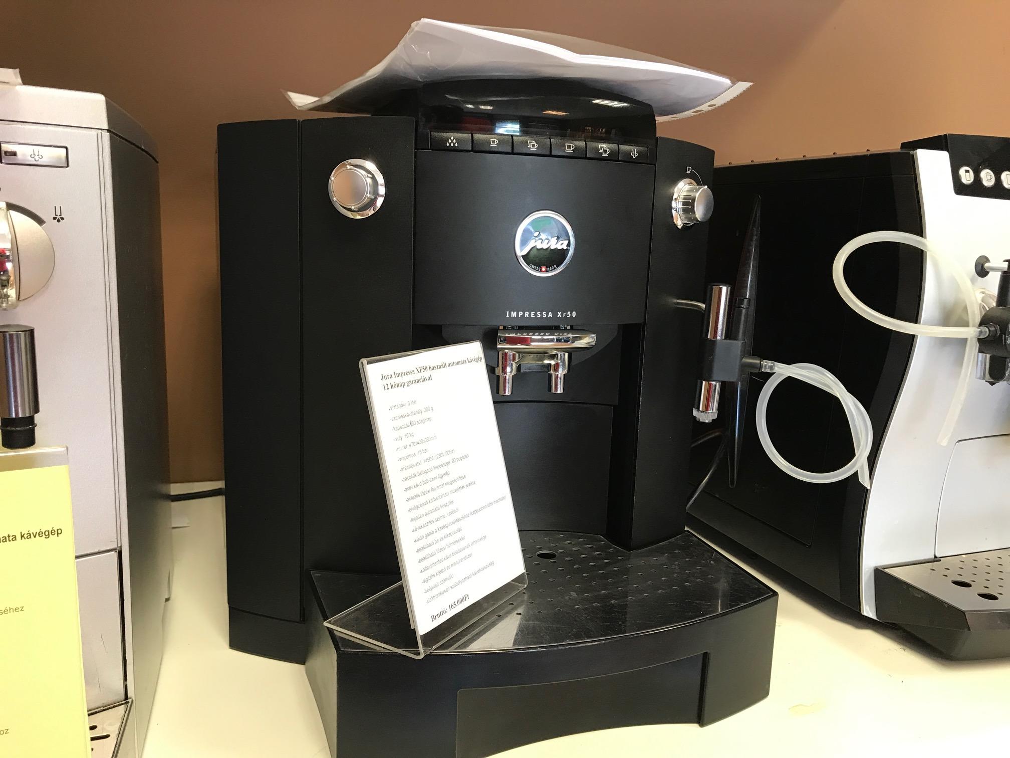 Jura Impressa XF50 felújított kávégép ,kávéfőző 12hónap garanciával