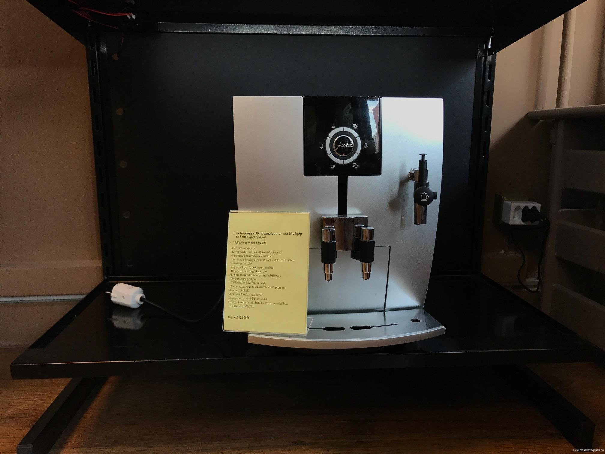 Jura Impressa J5 felújított automata kávégép 12hónap garanciával